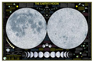 National Geographic - Earth's Moon Map Laminated Poster