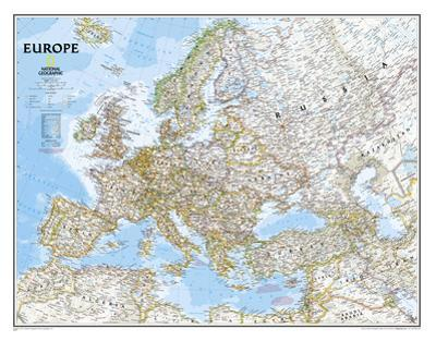 National Geographic - Europe Classic Map, Enlarged & Laminated Poster
