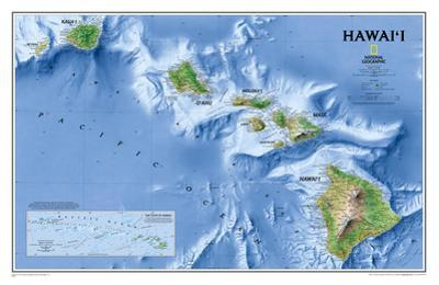 National Geographic - Hawaii Map Laminated Poster