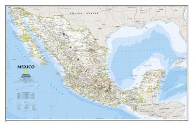 National Geographic - Mexico Classic Map Laminated Poster