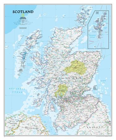 National Geographic - Scotland Classic Map Laminated Poster