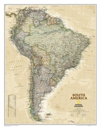 National Geographic - South America Executive Map Laminated Poster by National Geographic