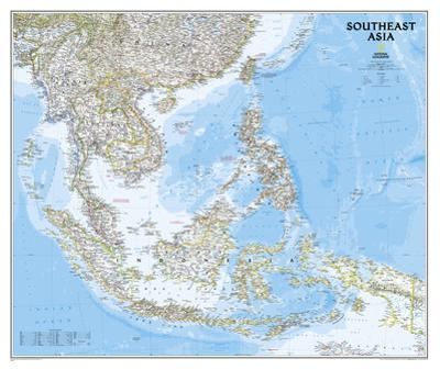 National Geographic - Southeast Asia Map Poster by National Geographic