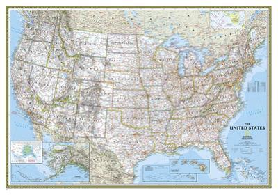 National Geographic - United States Classic Map Laminated Poster by National Geographic