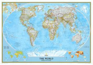 National geographic maps posters at allposters national geographic world classic map enlarged laminated posternational geographic gumiabroncs Image collections