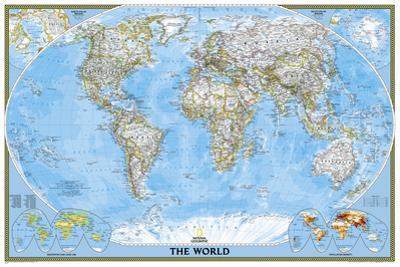 National Geographic - World Classic, poster size Map Laminated Poster