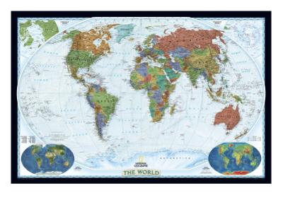 National Geographic - World Decorator Map Laminated Poster by National Geographic