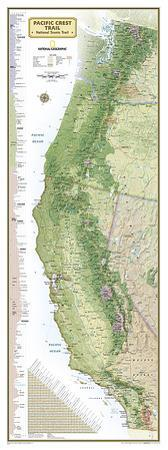 National Geographic Pacific Crest Trail Map