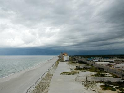 A Storm Rolls in over Gulf Shores, Alabama
