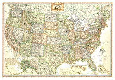 Maps of the United States Posters at AllPosterscom