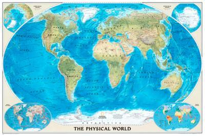 National Geographic World Physical Map