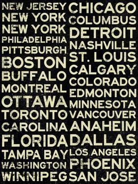 National Hockey League Cities Vintage Style