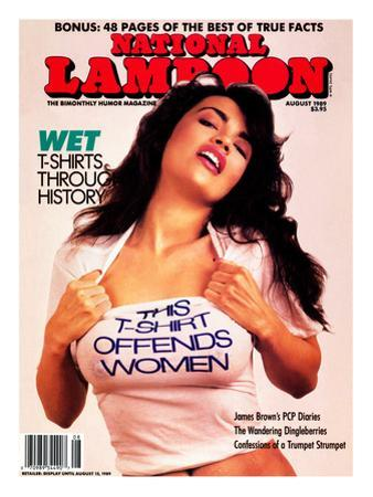 National Lampoon, August 1989 - Wet T-Shirts, This T-Shirt Offends Women