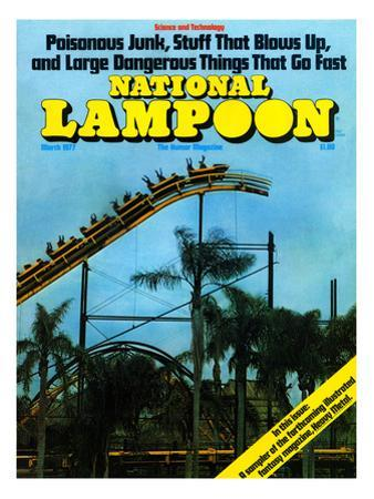 National Lampoon, March 1977 - Rollercoaster: Large Dangerous Things That Go Fast