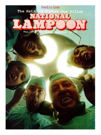 National Lampoon, May 1975 - The Nations Number One Killer: Monster Surgeons