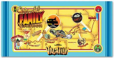National Lampoon's Vacation - Map Beach Towel
