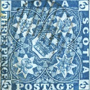 National Postal Museum: 3-Pence Crown of Great Britain and Heraldic Flowers of the Empire stamp