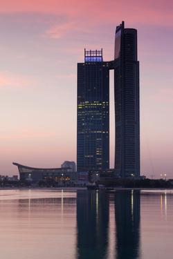 Nations Tower at dawn, Abu Dhabi, UAE