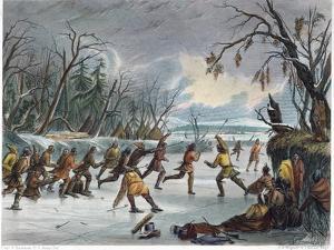 Native Americans: Ball Play, 1855