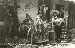 Native Mexicans, Olvera Street, Los Angeles, California