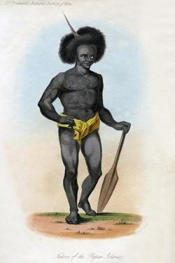 Native of the Papua Islands, C1840 by J Bull