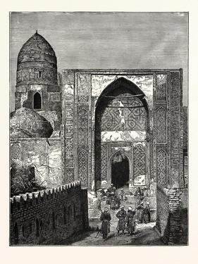 Native Police at the Gate of the Mosque of Shah Zindeh, Samarcand