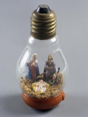 Nativity, Nativity Scene in Lightbulb, Italy