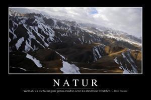 Natur: Motivationsposter Mit Inspirierendem Zitat