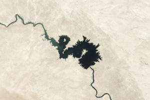 Natural Color Image of Qadisiyah Reservoir in Iraq