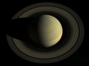 Natural Color Mosaic of Planet Saturn and its Main Rings