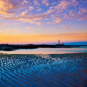 El Cotillo Toston Beach Sunset Fuerteventura at Canary Islands of Spain by Naturewolrd