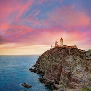 Almeria Cabo De Gata Lighthouse Sunset in Mediterranean Sea of Spain by Natureworld