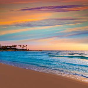 Javea Xabia El Arenal Beach Sunrise in Mediterranean Alicante Spain by Natureworld