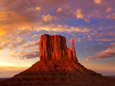 Monument Valley West Mitten at Sunset Colorful Sky Utah by Natureworld