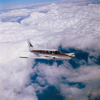Navajo Piper Plane Flying