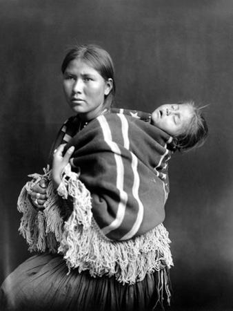 Navajo Woman & Child, C1914