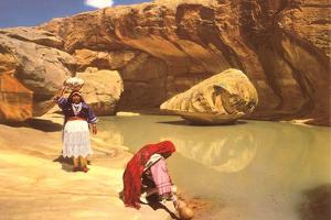 Navajo Women at Pool