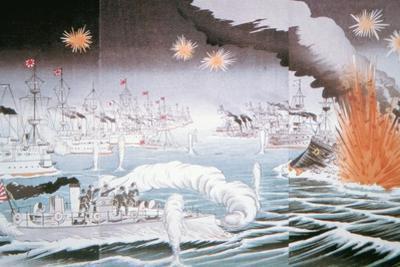 Naval Battle of Tsushima in 1905