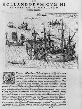 Naval Combat Between the Dutch and the Spanish Off the Coast of Manila