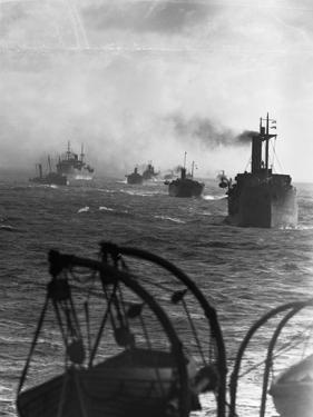 Naval Convoy in North Sea, 1942