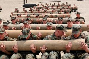 Navy SEAL Candidates Train with a 600-Pound Log, 2011