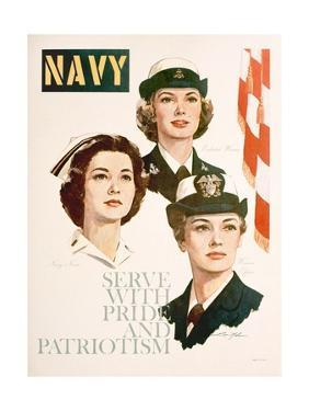 Navy - Serve with Pride and Patriotism Recruiting Poster