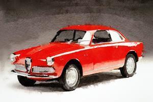 1958 Alfa Romeo Giulietta Sprint Watercolor by NaxArt
