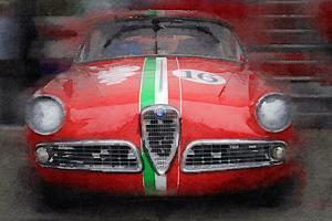 1959 Alfa Romeo Giulietta Watercolor by NaxArt