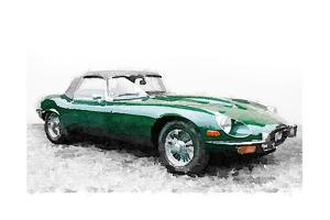 1961 Jaguar E-Type Watercolor by NaxArt