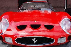 1962 Ferrari 250 GTO Front Watercolor by NaxArt