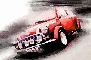 1963 Austin Mini Cooper Watercolor by NaxArt