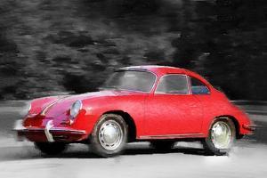 1963 Porsche 356 C Watercolor by NaxArt