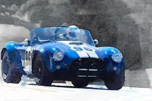 1964 AC Cobra Shelby Racing Watercolor by NaxArt