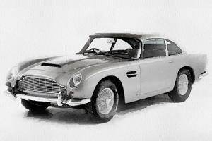 1964 Aston Martin DB5 Watercolor by NaxArt